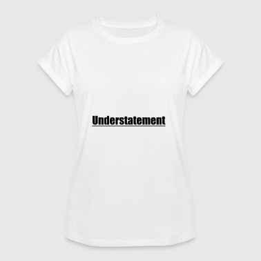 Lettering understatement black gift idea - Women's Oversize T-Shirt
