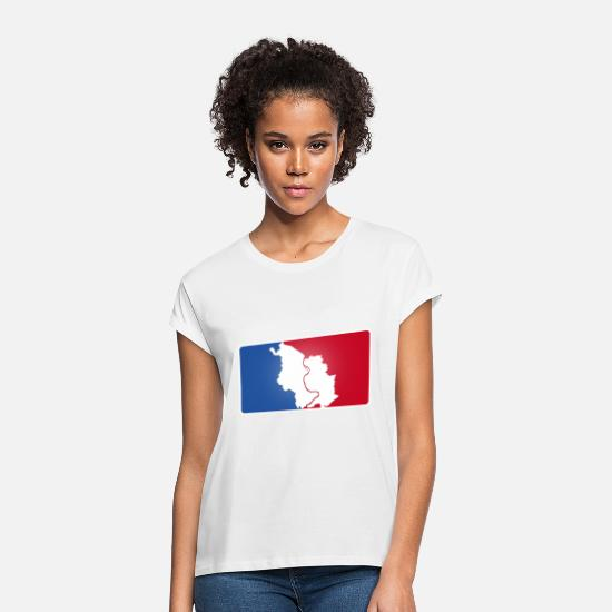 Hometown T-Shirts - Cologne Cologne Logo sporty - Women's Loose Fit T-Shirt white
