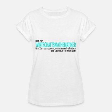 Asd Business math gift idea funny saying - Women's Oversize T-Shirt