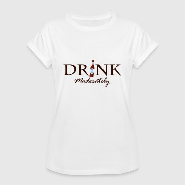 Moder Drink in moderation - Women's Oversize T-Shirt