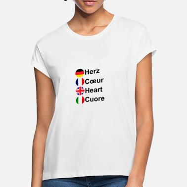 Cuore Heart Coeur Heart Cuore - Women's Loose Fit T-Shirt