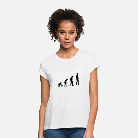 Caveman T-Shirts - evolution - Women's Loose Fit T-Shirt white