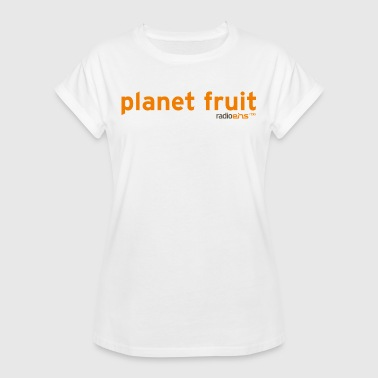 Frauen Bio-Sweatshirt planet fruit radioeins o - Frauen Oversize T-Shirt
