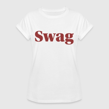 Bold Swag font for stylish streetwear - Women's Oversize T-Shirt