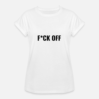 Hipster Kid FCK Off Black Word Simpel Cool Hipster Kids - Women's Oversize T-Shirt