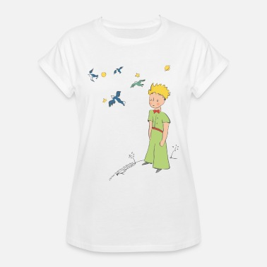 Le Petit Prince The Little Prince Travels With Birds - Women's Oversize T-Shirt
