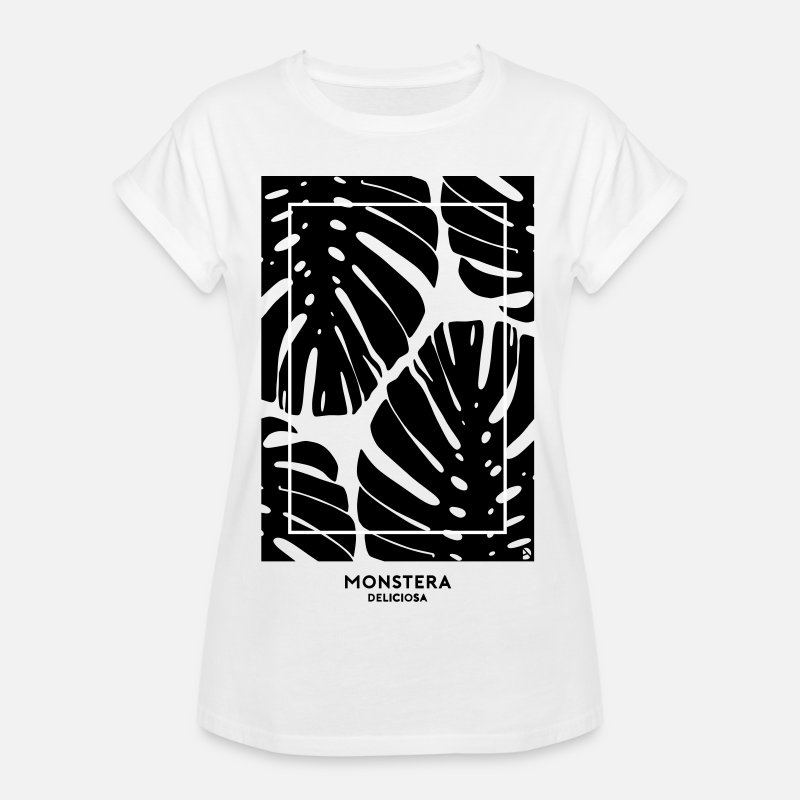 T-Shirts - (monstera) - Women's Loose Fit T-Shirt white