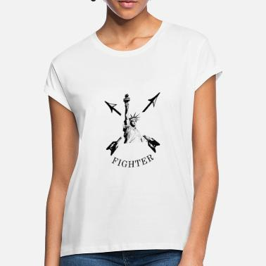 Freedom Fighters Fighter - Liberté, Statue of Liberty, Freedom - Women's Loose Fit T-Shirt