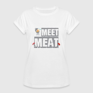 Né Pour Le Barbecue Barbecue grill barbecue barbecue barbecue idée cadeau - T-shirt oversize Femme
