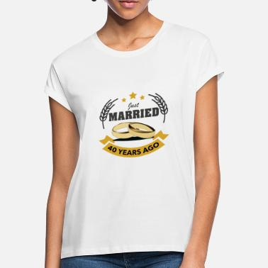 Anniversary Freshly married 40 years - Women's Loose Fit T-Shirt