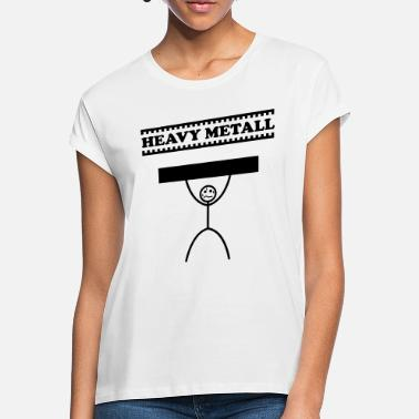Heavy Heavy Metal / Heavy Metal / Heavy Metal - Naisten oversized t-paita