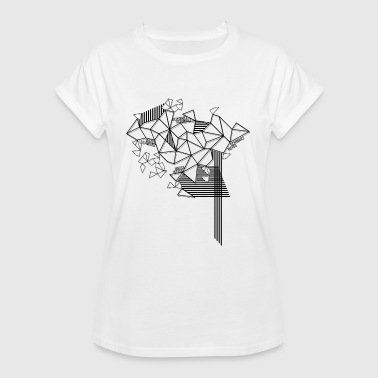 High Contrast modern pattern in black and white - Women's Oversize T-Shirt