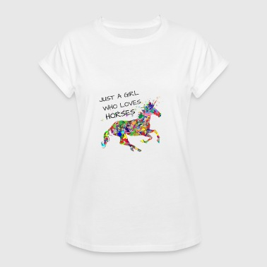 Cheval fille chevaux chevaux chevaux - T-shirt oversize Femme