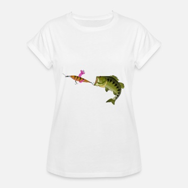 Kiss My Bass Kiss my Bass - Fishyworm - Barsch Angeln - Women's Oversize T-Shirt