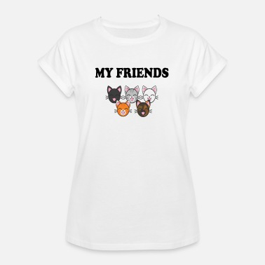 Ami De Chat Chat amis chat mes amis - T-shirt oversize Femme