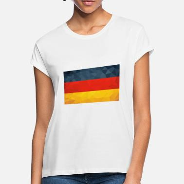 Man German Germany flag flag Low polygon - Women's Loose Fit T-Shirt