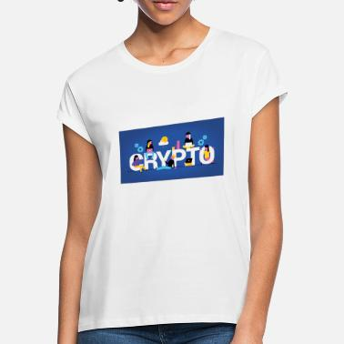 Love Cryptos Bitcoin Ripple EOS - Women's Loose Fit T-Shirt