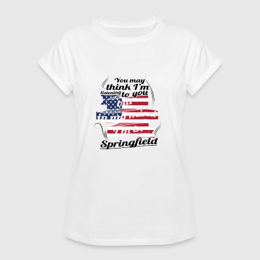 THERAPY HOLIDAY AMERICA USA TRAVEL Springfield - Women's Oversize T-Shirt