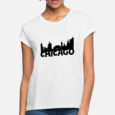 Chicago Chicago Skyline - Frauen Oversize T-Shirt