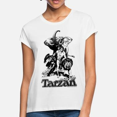 Tarzan Elephant Apes Lion Fight - Women's Loose Fit T-Shirt
