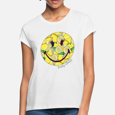Summer Ts & Tanks Smiley World Funny Lemon Pattern - Women's Loose Fit T-Shirt