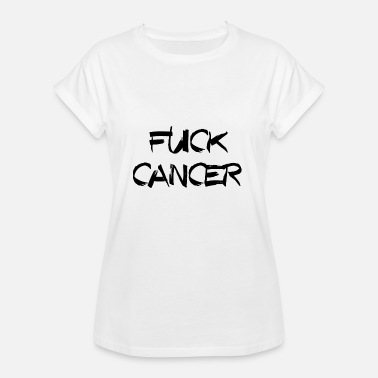 Fuck Fuck Cancer FUCK CANCER CANCER CHEMO RIBBON - Women's Oversize T-Shirt