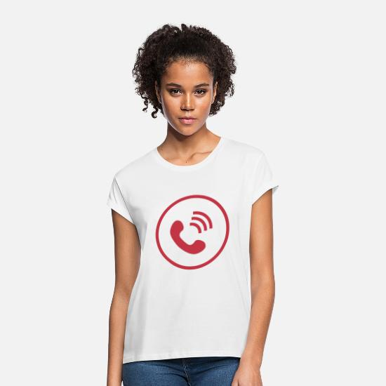 Phone T-Shirts - telephone cellphone cellphone radio telephone retro16 - Women's Loose Fit T-Shirt white