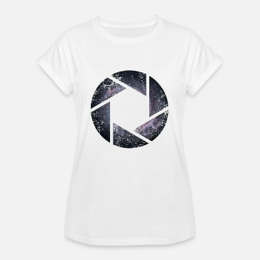 Outerspace SPACE CIRCLES CIRCLES GRUNGE - Women's Oversize T-Shirt