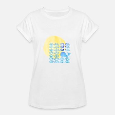 Wale Waves The whale and the waves - Women's Oversize T-Shirt