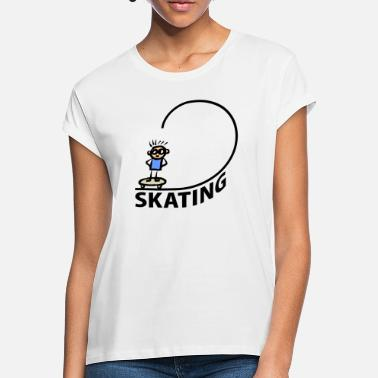 Halfpipe Patinage Skater Halfpipe - T-shirt oversize Femme
