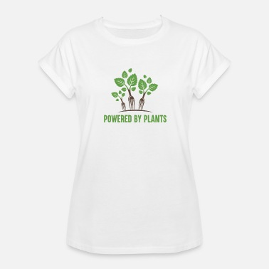 Plant Grounds Powered by Plants - Women's Oversize T-Shirt