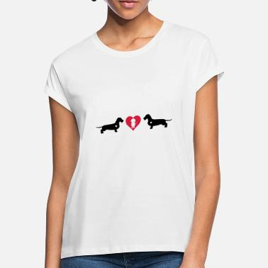 Dachshund with heart - Women's Loose Fit T-Shirt