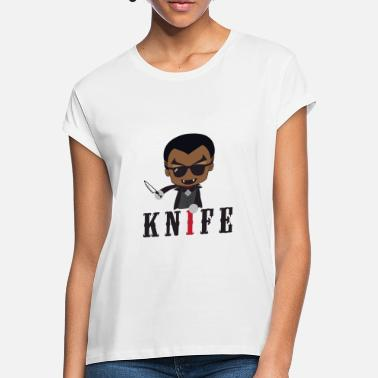 Knife Party Idea de regalo de Little Knife / Daywalker Vampire Teen - Camiseta holgada mujer
