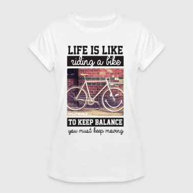 Smiley World Life's Like Riding A Bike Quote - Women's Oversize T-Shirt