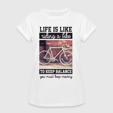 Vélo Smiley World Keep Moving Faire Du Vélo - T-shirt oversize Femme