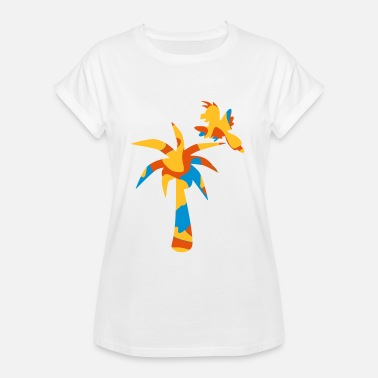 Bird-island JUNGLE: PALM TREE / BIRD - Frauen Oversize T-Shirt