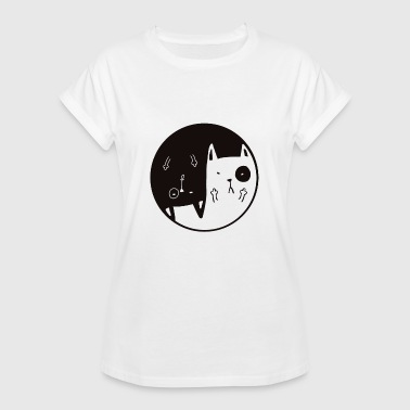 Madchester Yin Yang Mad Cats - T-shirt oversize Femme