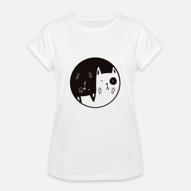 Madchester Yin Yang Mad Cats - Women's Oversize T-Shirt