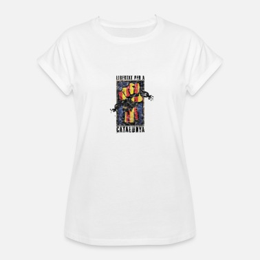 Carles Puigdemont Catalonia Saying Independence Politics Gift - Women's Oversize T-Shirt