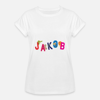 Jakob Mi nombre es Jacob T-Shirt First Name Child - Camiseta holgada de mujer
