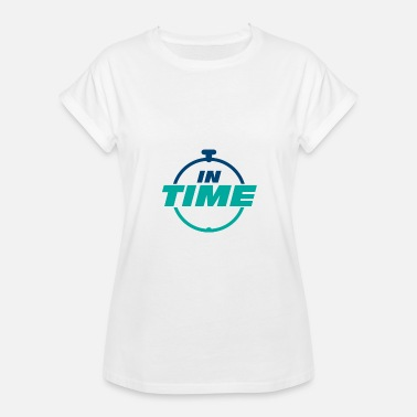 Times IN TIME On time In time clock - Women's Oversize T-Shirt