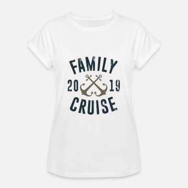 Family Vacation Family Cruise 2019 - Family Vacation Water Sea - Camiseta holgada de mujer