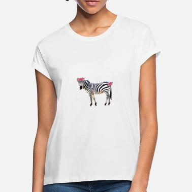 Children Flower zebra, zebra, horse, flowers - Women's Loose Fit T-Shirt