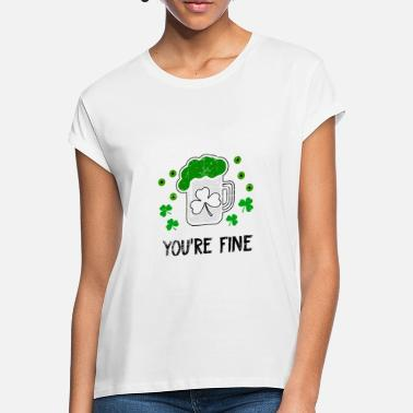 Guld St. Patrick's Day design - Oversize T-shirt dame
