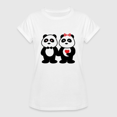 Couples in love panda - Women's Oversize T-Shirt
