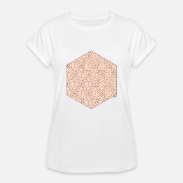 Animo Red Hexagon - Frauen Oversize T-Shirt
