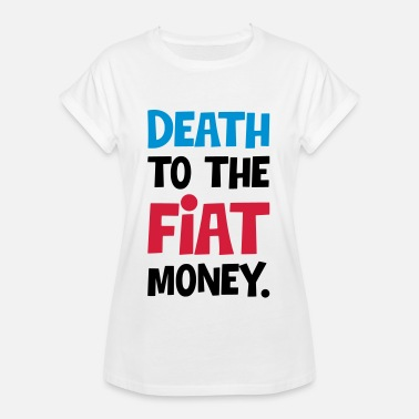 Rupee DEATH TO THE MONEY - CRYPTOS - Women's Oversize T-Shirt