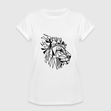 Polygon Lion - Women's Oversize T-Shirt