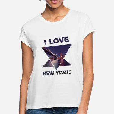 Template New York Template I Love Love - Maglietta larga donna