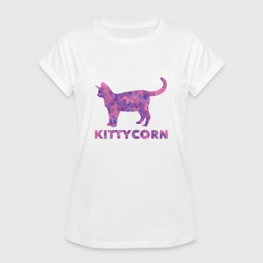 Kittycorn - Kot Unicorn Unicorn Kitty Watercolor - Koszulka damska oversize